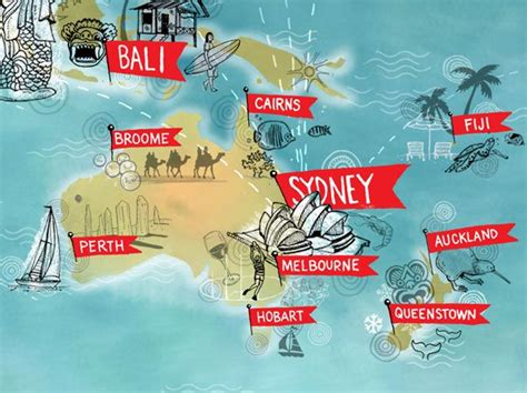 close    global map  qantas promoting flight