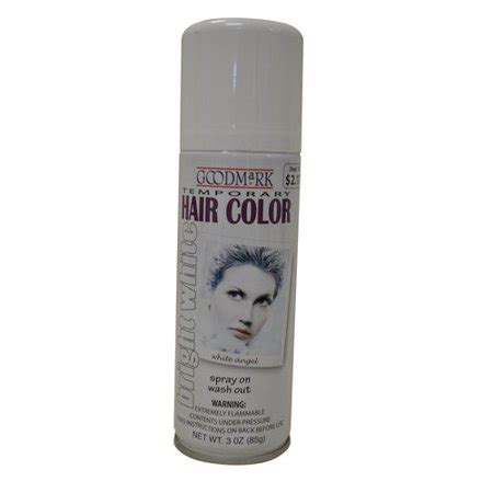 walmart temporary hair color goodmark temporary hair color spray white walmart