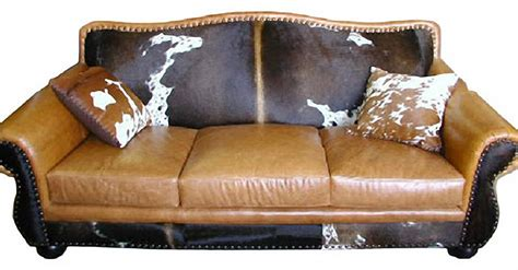 Cowhide Leather Sofa by Rustic Cowhide Sofas Rustic Sofas Rustic Couches