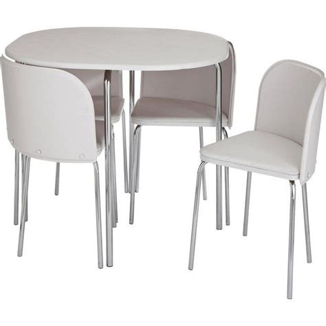 Kitchen Furniture Argos by Buy Hygena Aro Dining Table 4 Chairs White At Argos
