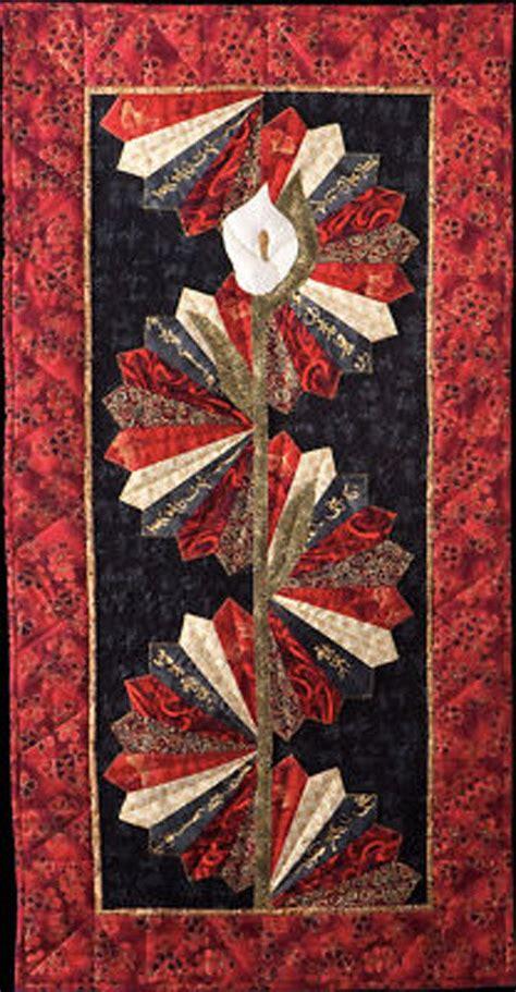 serenity asian tablerunner pattern quilt woman fans diy sewing