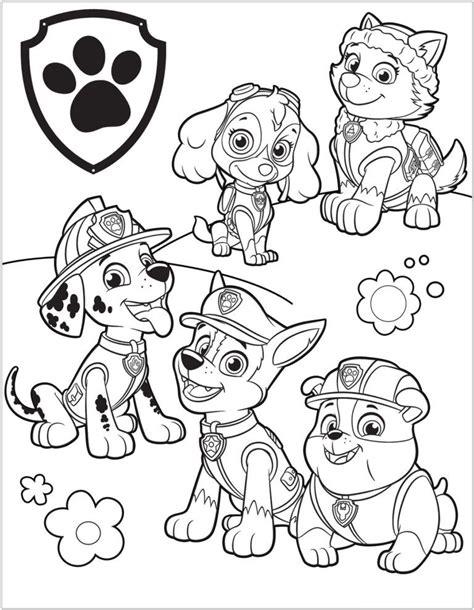 Paw Patrol Para Colorear