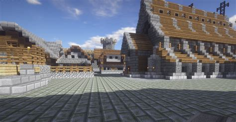 images medieval fortress mojang builds worlds