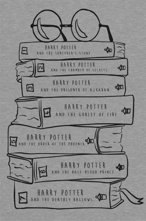 Harry Potter hand drawn books | Harry potter drawings