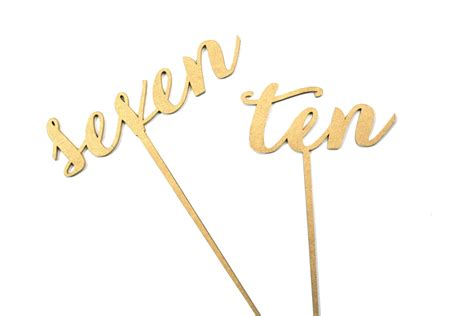 calligraphy table numbers gold gold calligraphy table numbers carolyna font 3d laser cut
