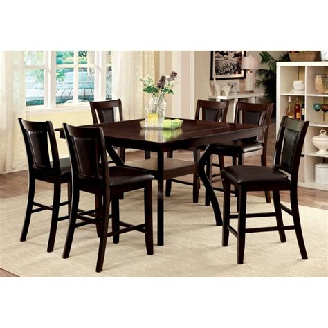 Furniture Of America Melott 7 Counter Height Dining