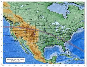 Solar Eclipse 2017 United States Map
