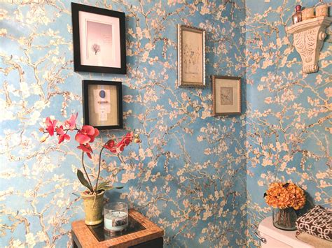 love  gorgeous bathroom wallpaper transformation