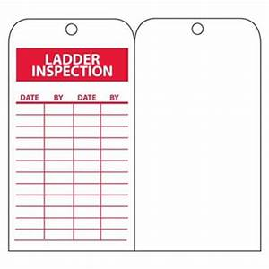 ladder inspection record tags safety maintenance With kitchen cabinets lowes with ladder inspection stickers