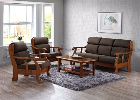 *great Sale*mujo Solid Wood Sofa Sets With Cushions *3 1 1