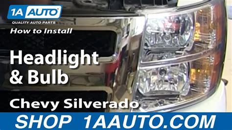 install change headlight  bulb   chevy