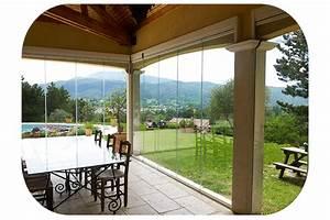 Rideau De Douche Transparent : rideau de verre fermeture de balcon terrasse pour ~ Dailycaller-alerts.com Idées de Décoration