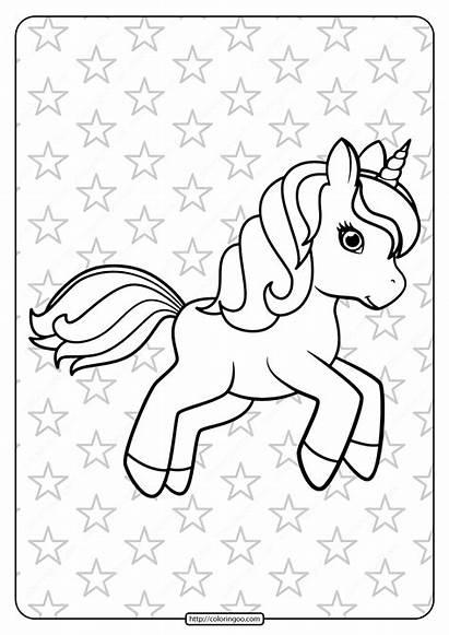 Unicorn Coloring Printable Pdf Prancing Sheets Disney
