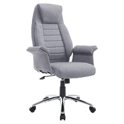 fauteuil bureau amazon homcom high back fabric executive office chair home