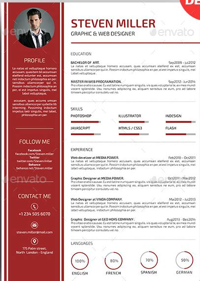 Exemple Mise En Page Cv by Cv Word Mise En Page