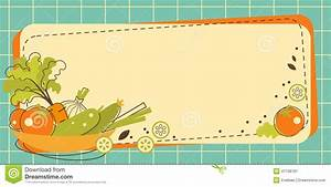Food Kitchen Background In Doodle Retro Style Stock Vector ...