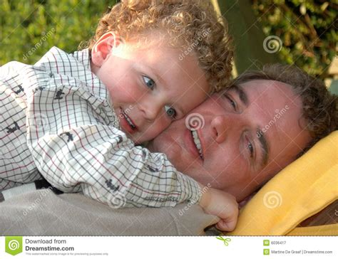 Father And Son Hugging. Hand Drawn Style Vector