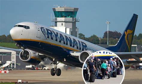 ryanair flight forced  emergency land  losing wheel