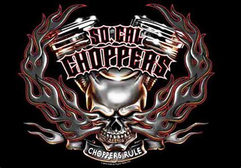 So California Choppers Poster Flag Rule Skull Logo