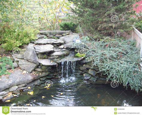 rock garden with waterfall rock garden waterfall stock photo image 51905393