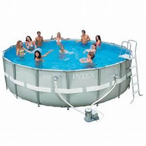 Piscine Tubulaire Oogarden : piscine ronde ultra frame intex 4 88m x 1 22m p diluve ~ Premium-room.com Idées de Décoration