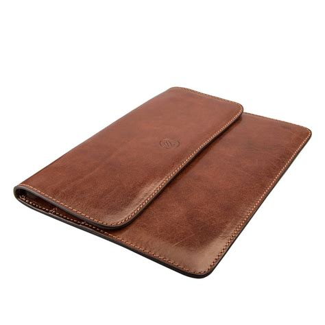 personalised    leather travel document holder