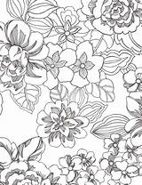 Coloring Pages Flower Adult Adults Tropical Printable Pattern Leaves Sheets Mandala Flowers Colouring Tree Floral Getdrawings Easy Sheet Books Getcolorings sketch template