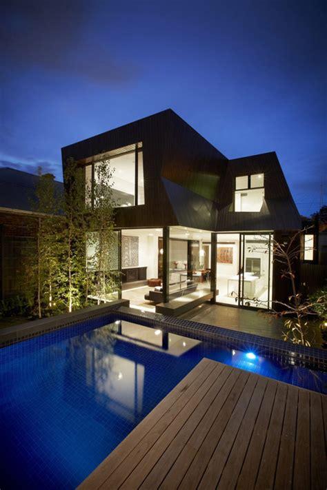 dazzling duplex house design  lucent glazing  timber cladding ideas  homes