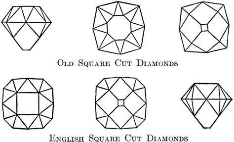 square cut diamonds clipart