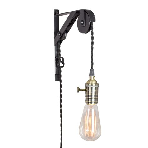 ceiling fans that plug into light socket pilchuck double pulley light with bronze socket plug in