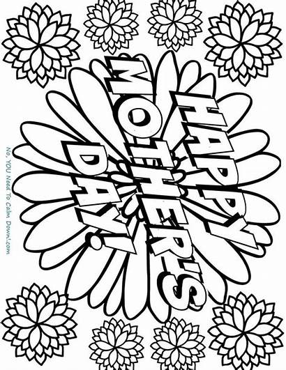 Happy Coloring Mother Printable Flowers Mothers Pages