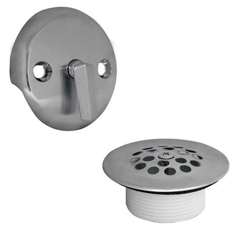 trip lever tub drain trim kit  overflow  chrome danco