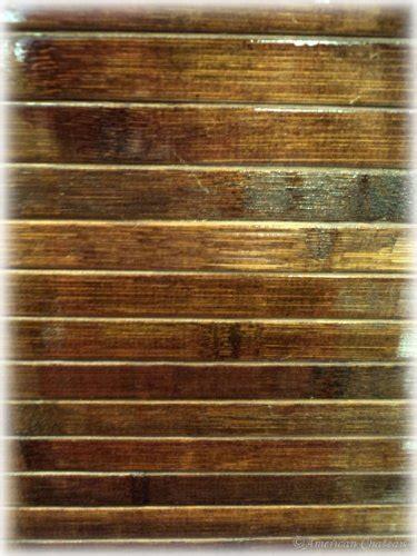 28quot x 75quot chocolate brown slat bamboo floor carpet area