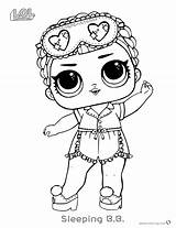 Lol Coloring Dolls Doll Pages Surprise Sleeping Printable Easy Sheet Adults Colouring Sheets Awesome Printables Bettercoloring Template Bb Ecolorings Info sketch template