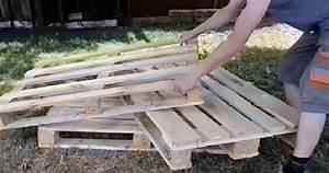 Fabriquer Meuble Bois Facile : il fabrique un canap pour son jardin avec 3 palettes de bois son projet est tr s facile ~ Nature-et-papiers.com Idées de Décoration