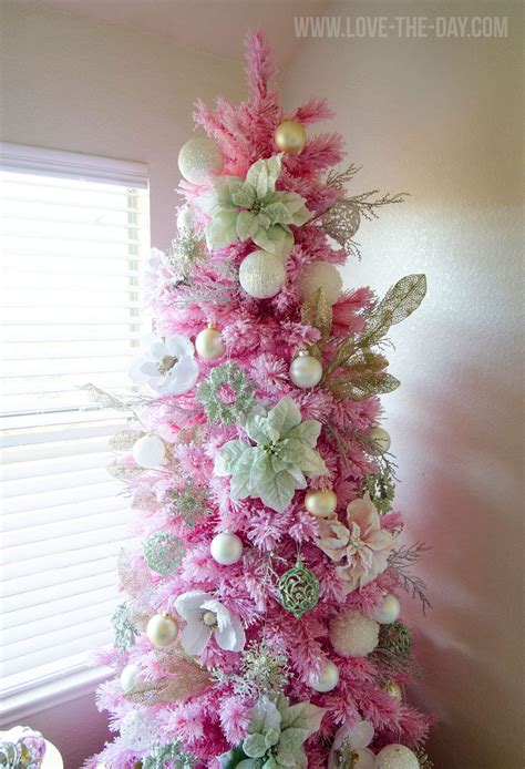 pink gold christmas tree love  day