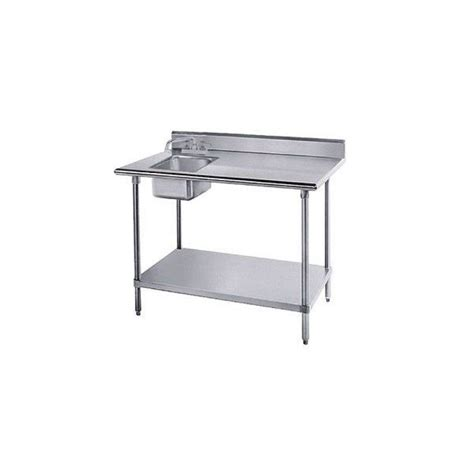 advance tabco kms 11b 305l x stainless steel work table sink