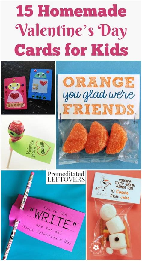 We have 15 easy kids valentines cards. 15 Homemade Valentine's Day Cards for Kids