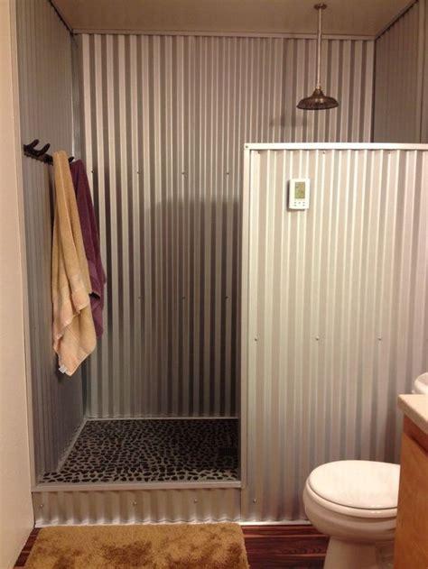 barn tin   shower hometalk