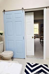 Porte De Salle De Bain : fabriquer une porte coulissante pour la salle de bain ~ Dailycaller-alerts.com Idées de Décoration