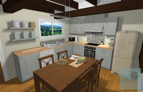 cuisiniste dieppe cuisine style cottage anglais en bois massif laqué