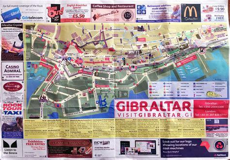 large detailed tourist map  gibraltar city gibraltar