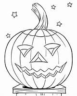 Pumpkin Coloring Pages Face Smile sketch template