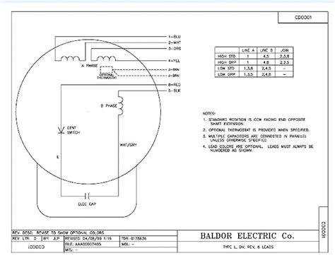 baldor  hp single phase motor wiring diagram