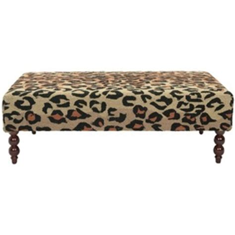 Animal Print Benches by Shop Safavieh Mercer Animal Print Indoor Accent Bench At