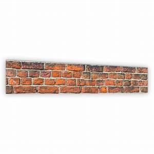 Mur Effet Brique : cr dence effet brique rouge verre et alu credence cuisine deco ~ Melissatoandfro.com Idées de Décoration