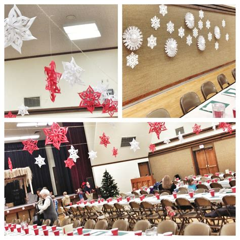 decorate  gym   christmas party church
