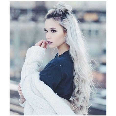White Hairstyles by Silver White Platinum Hair Liked On Polyvore Featuring