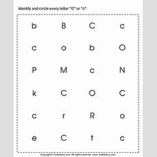 Identifying Lowercase And Uppercase Letter C Worksheet  Turtle Diary
