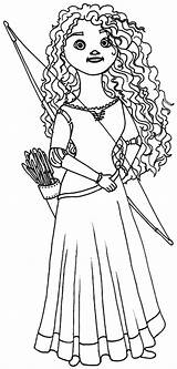 Merida Coloring Pages Princess Doll Queen Horse Riding Elinor Printable Print Getcolorings sketch template